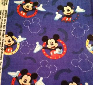AN ADORABLE MICKEY MOUSE CLUBHOUSE FLEECE FABRIC BY THE YARD