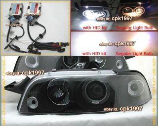 HID Fiat Punto MK1 Black Angel Eye Xeon Headlights 93 8