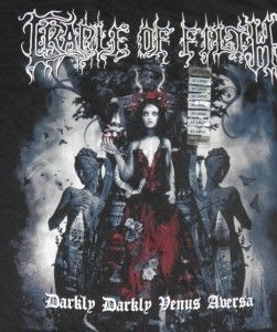 Cradle of Filth Darkly Venus Aversa Black Shirt XXL Goth Metal Rock