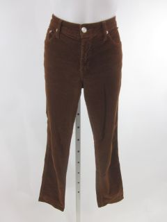 Fabrizio Gianni Brown Straight Leg Corduroy Pants Sz 8