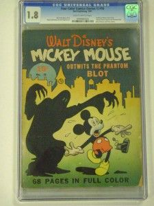 Four Color 16 CGC 1 8 1st Mickey Mouse Walt Disney