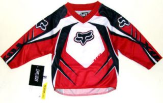 Fox Motocross HC Pee Wee Jersey Red Size 2T New w Tags
