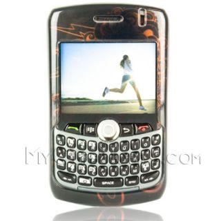 Blackberry Curve 8300 8330 Case Medusa Skull Faceplate