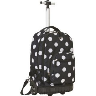 Accessories Rockland Luggage Sedan 19 Rolling Backpack Black Dot