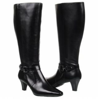Womens Anne Klein Garland Wide Calf Black Leather