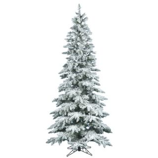 Vickerman Flocked Utica Fir 78 Artificial Christmas Tree A895065