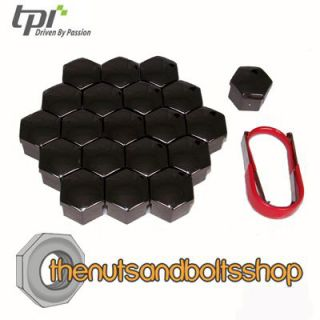 TPI Black Wheel Nut Bolt Covers for Ford Focus RS