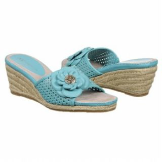 Womens Anne Klein Philomena Turquoise Leather
