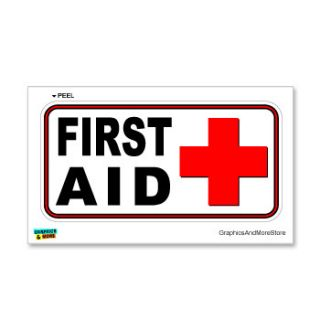 First Aid Kit Business Store Sign Window Wall Sticker
