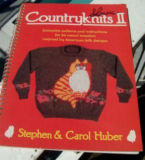 Countryknits II 1988 Folk Art Animal Floral Knitting Pattern Book
