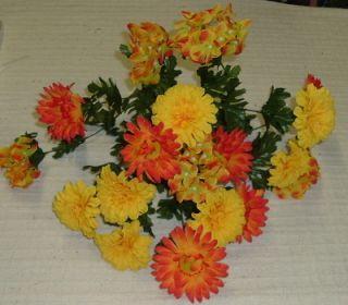 Orange Yellow Hydrangea Fall Silk Flower Flowers 6717