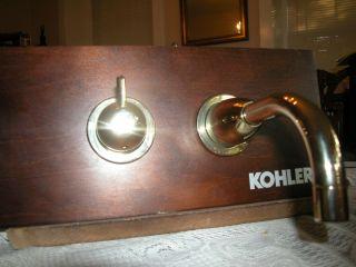 KOHLER FALLING WATER WALL MOUNT LAVATORY FAUCET K T194 PB POLISHED