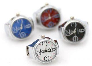 Fashion Quartz Finger Ring Watch Wrist Watches Clock Hour