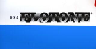 Flotone Sky Blue White Silk Screened Vinyl 2 Color Table Top Backdrop
