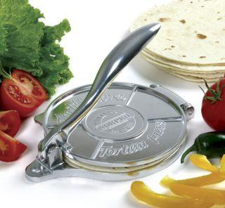 Deluxe Tortilla Press Handmade Maker Corn Masa Flour Gift Cook