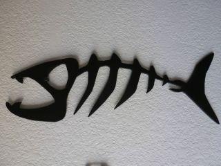 Skeleton Fish Metal Art Decor