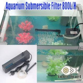 Fish Tank Aquarium Submersible Filter Air Tube 800L H