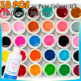 30 x Nail Art Solid Pure Color UV Gel Builder Gel G211