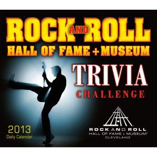 Rock Roll Hall of Fame Trivia 2013 Desk Calendar