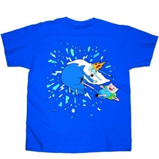 Adventure Time Finn vs Ice King PX T Shirt x Large New