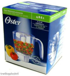 Oster 4861 Blender Food Processor Accessory Set 3 Cup