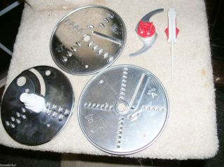 Machine Food Processor 354 3 Discs Chopping Blade Used in VGC