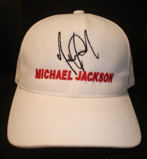 MICHAEL JACKSON CAP / HAT WITH STITCHED AUTOGRAPH