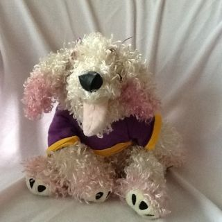 FANCY NANCY 17 INCH DOLL PLUSH PET Soccer Frenchy Dog With Kings Crown