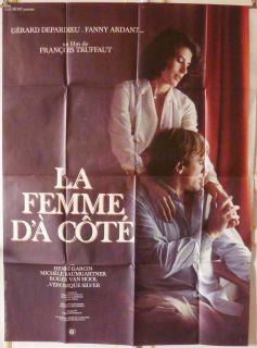 Femme DA Cote 47x63 French 1981 Francois Truffaut Fanny Ardant