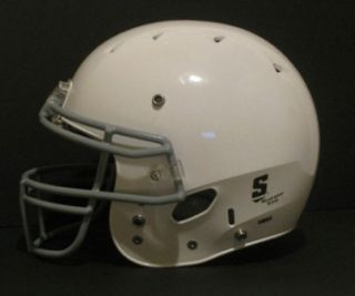 HYBRID WHITE YOUTH SMALL REGULAR FOOTBALL HELMET KIDS FACE MASK
