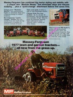 AD VINTAGE 70s ERA MASSEY FERGUSON 1655 FARM LAWN GARDEN TRACTOR MOWER