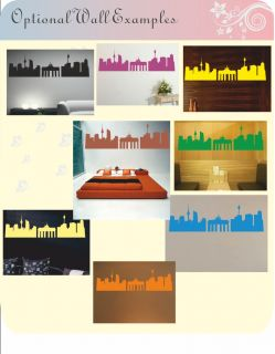 Cityscape Wall Stickers Decal Art City Scene New York London Paris
