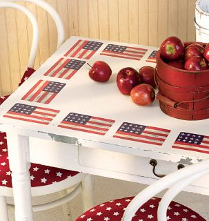 25 US Flag Wallies Decals American July 4th USA Flags Decals Stickers