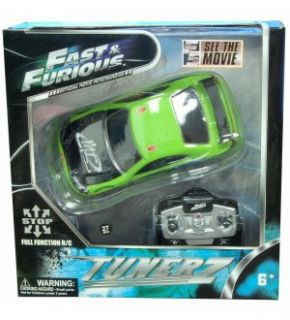 Fast & Furious Tunerz Green Mitsubishi Eclipse 1:24 Scale R/C Car *New