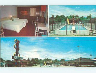 Unused Pre 1980 FLAGSTONE MOTEL & POOL Eugene Oregon OR u5820