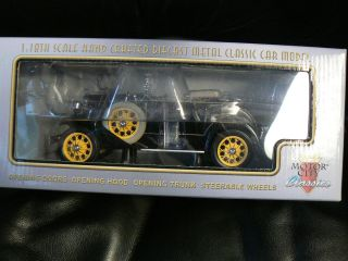 Motor City Classics 1931 Ford Model A Roadster 1 18 scale Diecast NIB