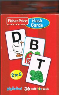 FISHER PRICE FLASH CARDS AGES 2 TO 5 ALPHABET 36 FULL COLOR CARDS ORIG