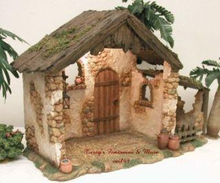 fontanini italy 5 lighted italian traditional nativity village stable