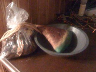 Primitive Wooden Bowl w EXTRAS