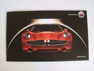2012 Fisker Karma Brochure