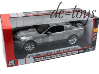 Shelby Collectibles 2012 Ford GT 500 Super Snake 1 18 Grey with Black