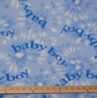 Baby Boy Blue Polar Fleece Fabric by The Yard
