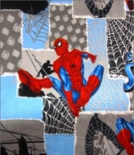 Marvel Spiderman Spray Grey Patch Half Yard Fleece Fabric