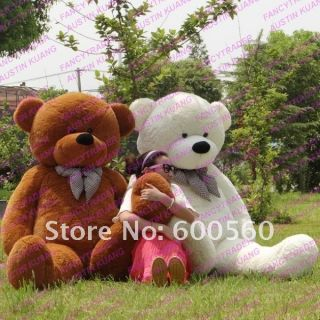 56 Feet 200cm Jummbo Giant Stuffed Teddy Bear 4 Colors Free Shipping