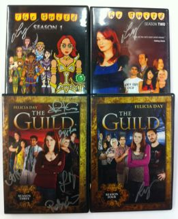 Seasons 1 4 All Signed by Felicia Day 3 Signed by Entire Cast