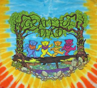 Grateful Dead Forest Bears Psychedelic Tie Dye T Shirt Tee