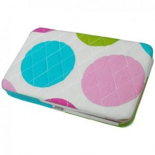 Multi Polka Dot Print Quilted Flat Wallet