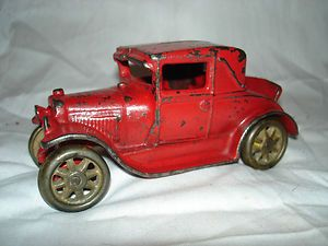 Ford Model A Coupe with Rumble Seat Cast Iron Antique Toy Car
