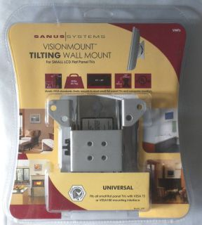 Sanus Systems Tilting Wall Mount Model VMF for Flat Screen TV Silver