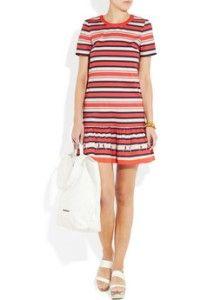 New Marc by Jacobs Flavin Striped Stretch Cotton Mini Runway Dress